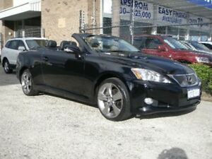 2009 Lexus IS250C GSE20R Sports Onyx Black 6 Speed Automatic Convertible Wangara Wanneroo Area Preview