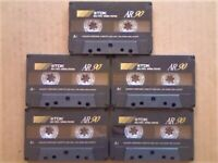 £18.49 & FREE P&P 5x GUARANTEED TDK AR 90 PREMIUM CASSETTE TAPES 1994-1997 W/ CARDS CASES LABELS