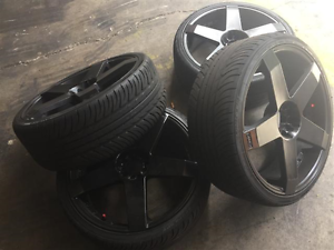 SUBARU NISSAN 20 INCH WHEELS WITH NEW ACHILLES $900 Burleigh Heads Gold Coast South Preview