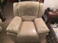 Genuine Leather Electric Reclining Armchair