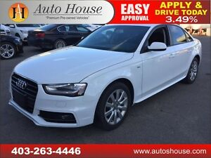 2015 AUDI A4 SLINE PUSH BUTTON START LOW KM 90 DAYS NO PAYMENTS!