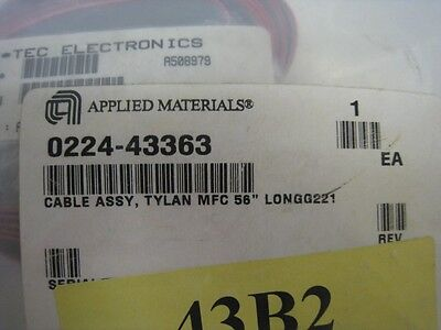 """AMAT 0224-43363 cable assy. tylan MFC 58"""" LONGG221"""