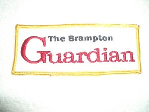 Brampton Guardian Embroidered Patch