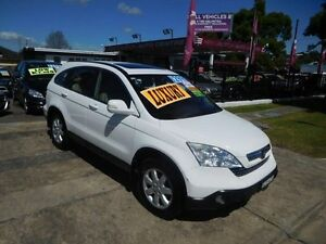 2009 Honda CR-V MY07 (4x4) Luxury White 5 Speed Automatic Wagon New Lambton Newcastle Area Preview