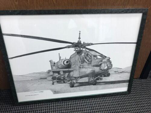 AH-64 Apache Framed Print/Poster - Dewey Davidson