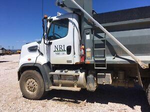 Freight-liner dump truck
