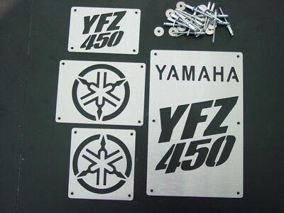 CUSTOM YAMAHA YFZ450 YFZ 450 FENDER WARNING TAGS BADGES PLATES NEW!