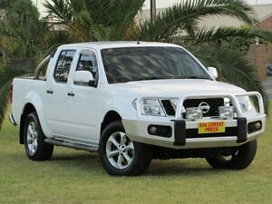 2013 Nissan Navara D40 S6 MY12 ST White 5 Speed Sports Automatic Utility Hendon Charles Sturt Area Preview