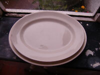 large White Serving Plates by Swinnertons of Staffordshire