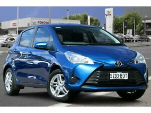 2017 Toyota Yaris NCP130R Ascent Tidal Blue 4 Speed Automatic Hatchback Adelaide CBD Adelaide City Preview