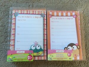 ~Sleep Over Invitations, NEW, two packs - both for $5