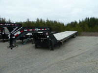 "40'x 102"" P.J. Goose Neck Flatbed trailer (USED)"