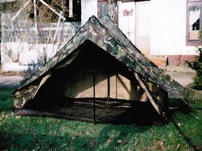 Einmann Zelt mit Boden und Reißverschluss Camping Outdoor Tarnzelt gebraucht