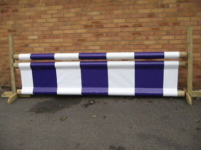 EQUESTRIAN JUMP FILLER & POLE SLEEVE, PURPLE/WHITE , HORSE/PONY SCHOOL AID PVC