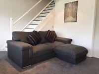 2 Large Sofas Plus Storage Footstool