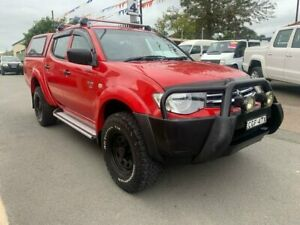 2012 Mitsubishi Triton MN MY12 GLX (4x4) Red 5 Speed Manual 4x4 Double Cab Utility Waratah Newcastle Area Preview