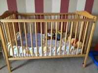 New, unused, cot with mattress for sale