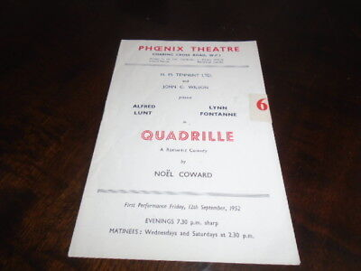 ALFRED LUNT & LYNN FONTANNE in QUADRILLE - 1952