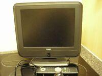"Technika Digital LCD Flatscreen Television, 15"" screen. Built-in freeview & remote control"