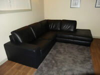 Natuzzi Castello 2 Piece Genuine Leather Sectional Couch