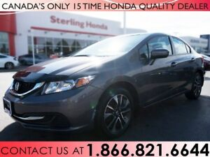 2015 Honda Civic EX | NO ACCIDENTS | 1 OWNER | LOW KM'S