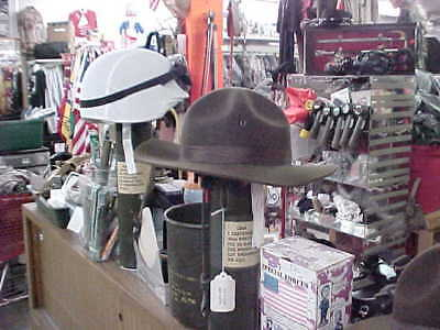 t  6 5/8  ISSUE ARMY MARINE DI HAT NO CHIN STRAP MILITARY % (Marine Drill Instructor)