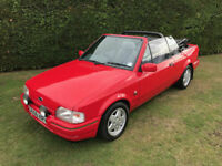 1990 Ford Escort XR3i Cabriolet - 44k miles - Beautiful example - Modern classic