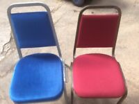 Second Hand Red Conference Chairs - Steel Frame - 300 available