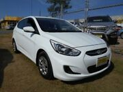 2016 Hyundai Accent RB4 MY16 Active White 6 Speed Auto Active Select Hatchback Caloundra West Caloundra Area Preview