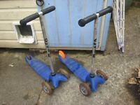 Blue Micro Scooter plus spare scooter for parts & original box