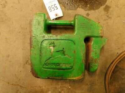 John Deere 755 Diesel Compact Tractor Weight 40 Lbs. Part R88949 Tag 558