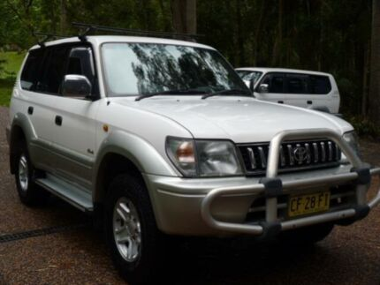 1998 Toyota Landcruiser Prado VZJ95R Grande VX (4x4) White 4 Speed Automatic 4x4 Wagon Glenning Valley Wyong Area Preview