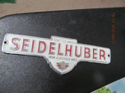 Seidelhuber Iron & Bronze works Seattle nameplate emblem name plaque Washington