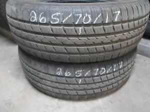 265/70R17 2 ONLY USED HI FLY A/S TIRES