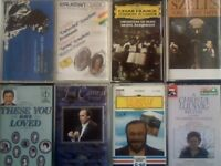 MORE CLASSICAL ORCHESTRA WORKS, VARIOUS CONDUCTORS, COMPOSERS, TENORS, PRERECORDED CASSETTE TAPES.