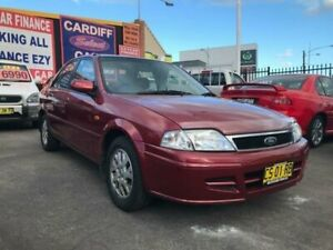 2001 Ford Laser KN GLXi Red 4 Speed Automatic Sedan Cardiff Lake Macquarie Area Preview
