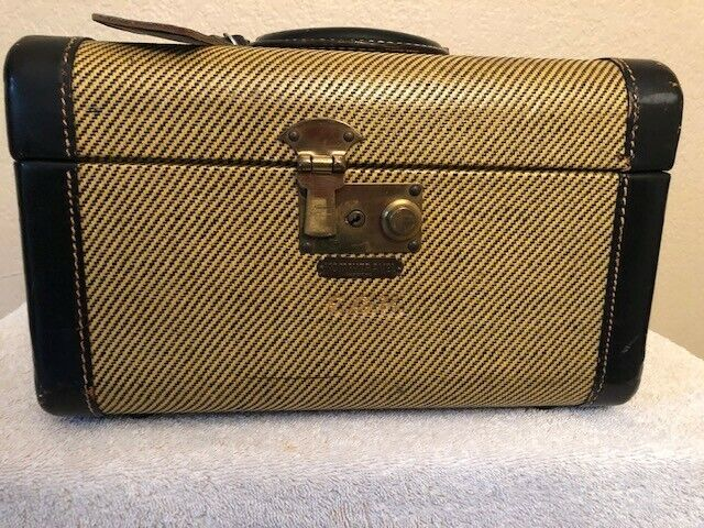 Rare vintage tweed train case