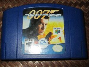 *** NINTENDO 64/N64 JAMES BOND 007 THE WORLD IS NOT ENOUGH BLUE!