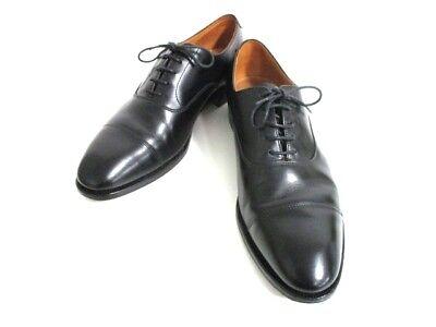 Auth Crockett&Jones Black Leather Shoes Men