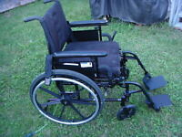 wheelchair folder with cuishion ( footrest)