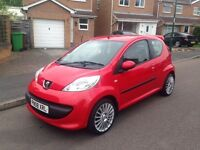 PEUGEOT 107 URBAN 998 CC **40000 MILES ONLY** LOW INSURANCE AND TAX, corsa and c1