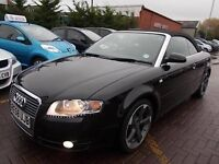 AUDI A4 Convertible 2.0 TDI S Line Sport BLACK 2008(58 plate) Full MOT, Part Exchange accepted