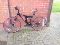 Dunlop mountain bike 21 speed gears,dual disc brakes, good cond.