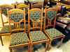 NEWLY UPHOLSTERED AND RESTORED SET OF SIX GOLDEN OAK DINING CHAIRS Cullen, Buckie