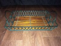 Metal and Wooden Tray