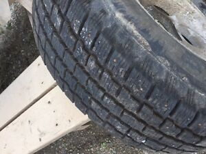 "Winter Tires - 15"" on rims - 235/75R15"