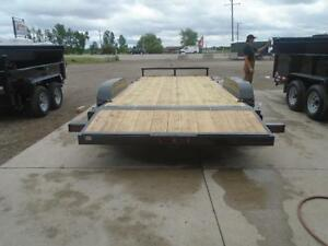 OPEN DECK CAR HAULER 7X18 QUALITY MADE - GET MORE UPGRADES FREE London Ontario image 2