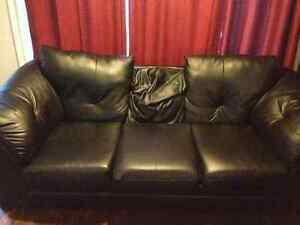 Black Faux leather couch for $50 or best offer