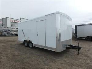 "*2017* 8.5 x 18 Enclosed Trailer - 91"" Interior Height + HD Ramp"