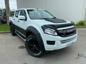 2015 Isuzu D-MAX MY15 SX High Ride Cab Chassis Crew Cab 4dr Spts Auto 5sp 4x2 White Sports Automatic Oxley Park Penrith Area Preview